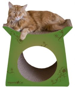 Tower Tunnel Cat Scratcher Italian Green