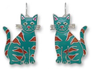 Calypso Cat Pendant with 18 in Silver Chain