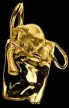 Gold Kitten Shopping Pendant or Pin