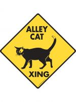 Alley Cat Crossing Sign