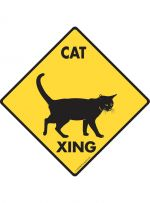 Cat Crossing Cat Sign