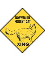 Norwegian Forest Cat Crossing Sign
