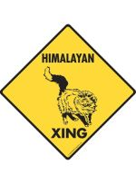 Himalayan Cat Crossing Sign
