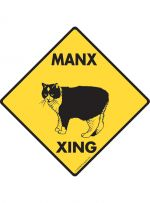 Manx Cat Crossing Sign