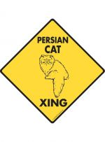 Persian Cat Crossing Sign