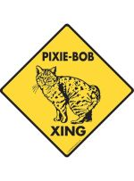 Pixie-Bob Cat Crossing Sign