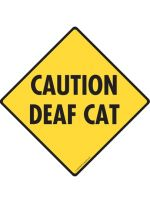 Caution Deaf Crossing Cat Signs
