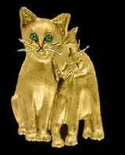 Gold Cat Pals Pendant or Pin
