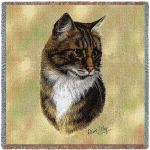 Brown Tabby Cat Small Blanket