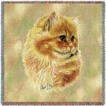Cameo Persian Cat Small Blanket