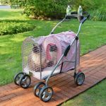 Kittywalk 5th Ave Pet Stroller SUV Pink