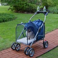 Kittywalk 5th Ave Pet Stroller SUV Blue