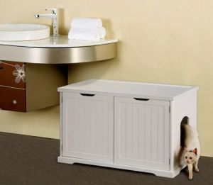 Cat Washroom Bench Litter Box Cover