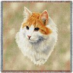 Red And White Short Hair Cat Small Blanket