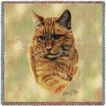 Red Tabby Cat Small Blanket