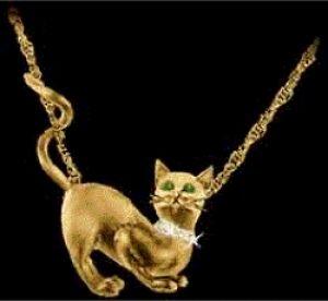 Gold cat love pendant gold cat jewelry pendants and pins cat gold cat love pendant aloadofball Gallery