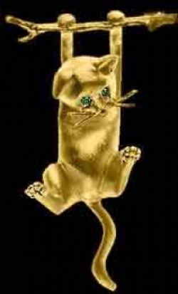 Gold Cat Pin