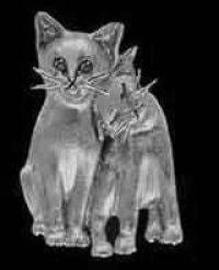 Sterling Silver Cat Pals Pendant or Pin