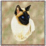 Siamese Cat Small Blanket