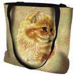 Cameo Persian Cat Tote Bag