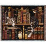 Frederick The Literate Cat Blanket
