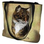 Brown Tabby Cat Tote Bag