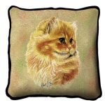 Cameo Persian Cat Pillow