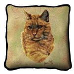 Red Tabby Cat Pillow