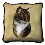 Brown Tabby Cat Pillow