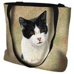 Black And White Short Hair Cat Tote Bag