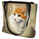 Red And White Short Hair Cat Tote Bag