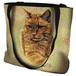 Red Tabby Cat Tote Bag