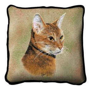 Abyssinian Cat Pillow